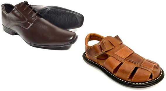 Sandalia Masculina Sapato Social Masculino Kit 2 Pares 4