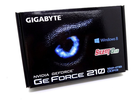 Placa De Vídeo Vga Nvidia Gigabyte Geforce Gt 210 1gb - Gv-n