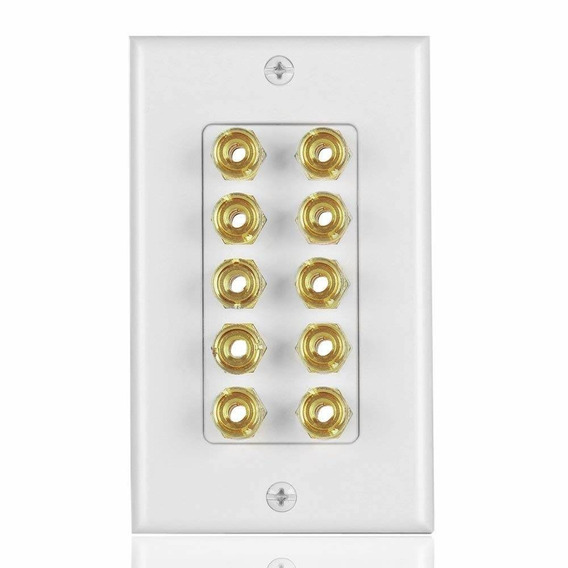 Tnp Home Theater Speaker Wall Plate Outlet - 5 Speaker Sound