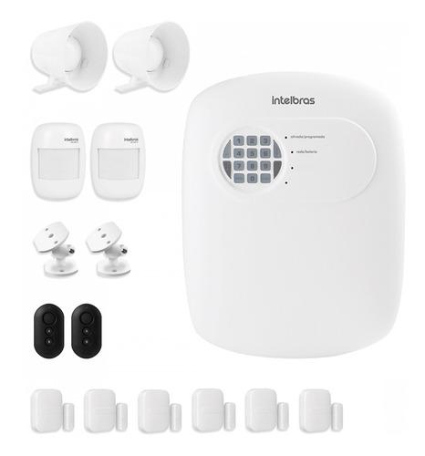 Imagem 1 de 7 de Kit Central Alarme Intelbras Anm 3004 S/fio 8 Sensores Tf