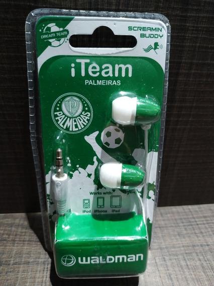Fone De Ouvido Palmeiras (produto Oficial Licenciado)