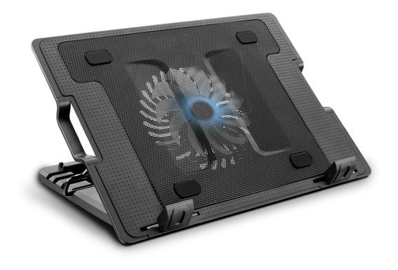 Suporte Base Cooler Notebook Multilaser Até 17 - Led Azul
