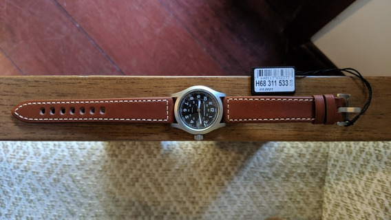 Relógio Hamilton Khaki Quartz Suiço Cristal Safira H68411533