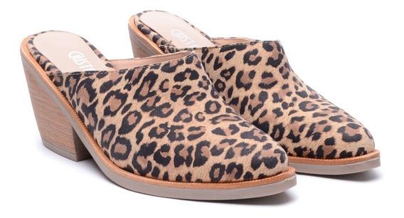 Zapatos Mujer Zuecos Sandalias Taco Medio Heben Calzados