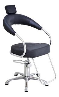 Cadeira Poltrona Hidraulica Base Aluminio Escovado Futurama
