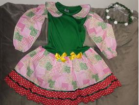 Vestido Junino Tamanho 6 - Ideal Para 4 A 6 Anos