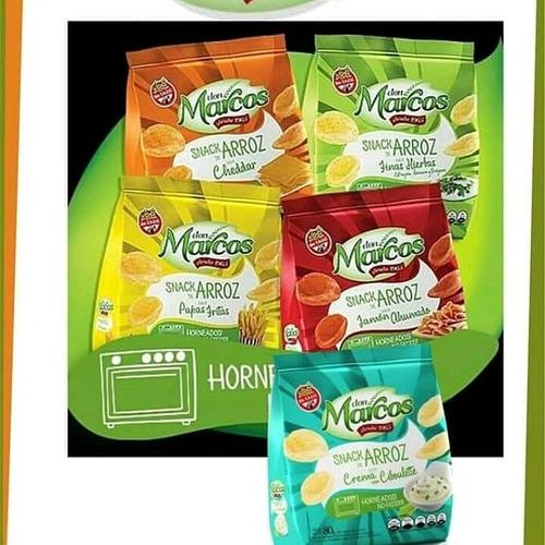 Imagen 1 de 1 de Snacks Don Marcos Caja 20 Unidades Surtidos 5 Gustos