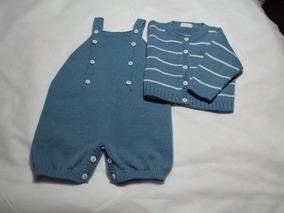 Conjunto Bebê Tricô Menino Verão - Citricot