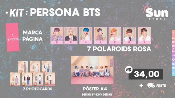Kit Persona Bts Photocard Polaroid Pôster K-pop Fanmade