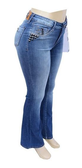 Calça Jeans Feminina All Denim Flare Com Lycra - Al183.5