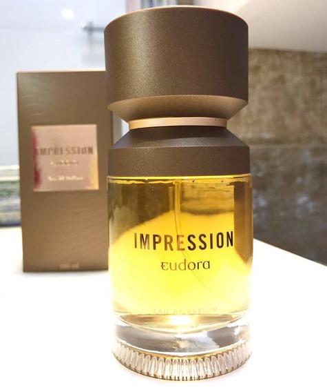 Impression Eau De Parfum 100ml Masculino. Perfume Eudora.