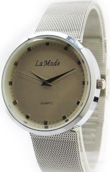 Reloj La Mode By Sweet Acero Malla Tejida Regulable Garantía