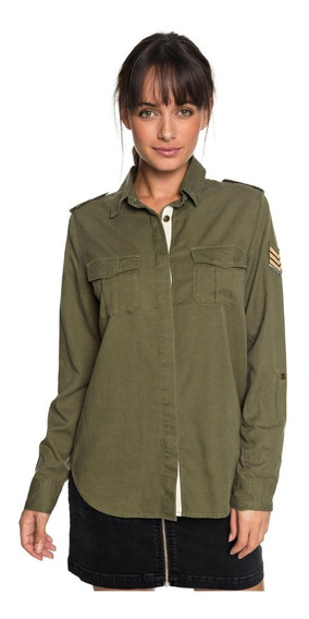 Roxy Camisa Military Influence (gpz0)