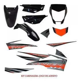 Caren+para+tras+tamp+adesivo Xtz 250 Lander 250 Preto 2014