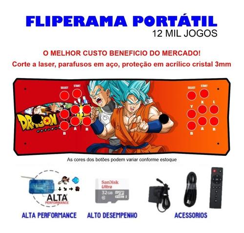 Fliperama Portátil Slim 3 Em 1 - Vegeta E Goku
