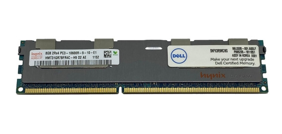 Memória 8gb Pc3-10600r Dell Poweredge R410 R415 R420 R510