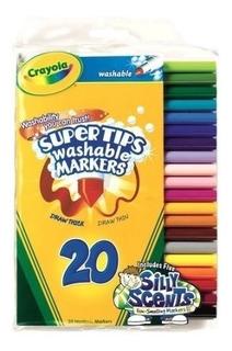 Crayola Súper Tips Marcadores Lavables Con Tonto De Los Olor