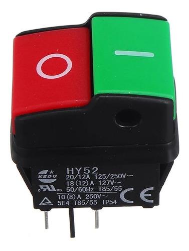 Kedu Hy52 Interruptor Star Stop Con Retención Mecánica.