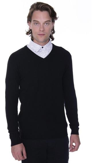 Sweater Island Cuello En V Con Lycra - Kout Hombre