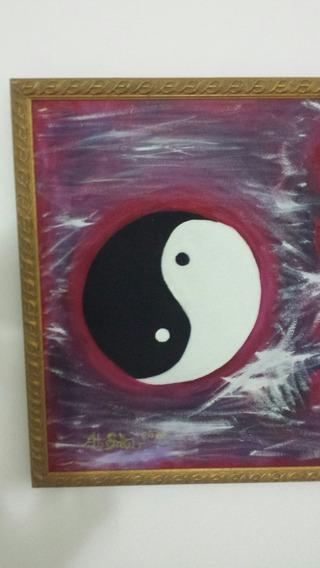 Pintura-tinta A Óleo - Quadro Abstrato - Esotérico- Yin Yang