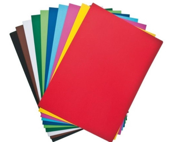 Cartulina Escolar 45 X 63 Pack Por 20 Un. Colores Surtidos