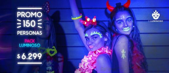 Promo Cotillon Luminoso 150 Personas Increible!