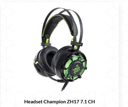 Fone Ouvido Game Champion Pro Gaming 7.1ch Headset