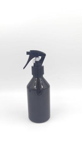 5 Frascos Plásticos Pet Âmbar 250ml Válvula Gatilho Preta