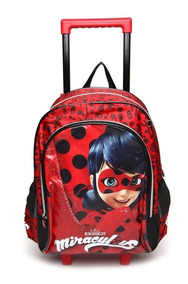 Mochila De Rodinhas Ladybug Com Máscara - Pacific