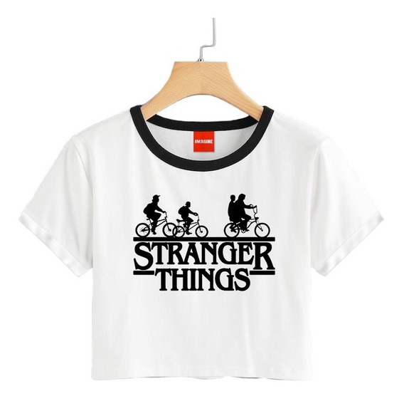 Blusa Stranger Things Colores Playera Bicicletas Crop 038