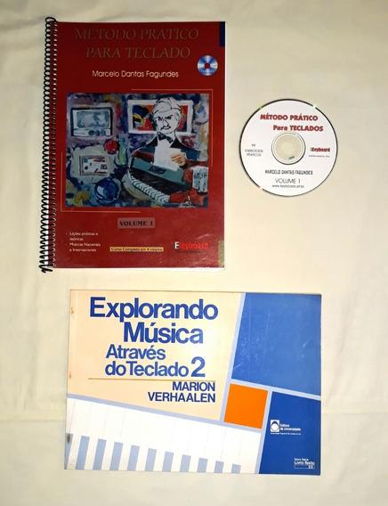 2 Livros De Aprendizado De Teclado + Cd-rom