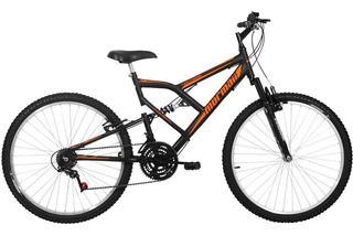 Bicicleta Aro 26 Mormaii Fullsion Com 18 Marchas, Preta