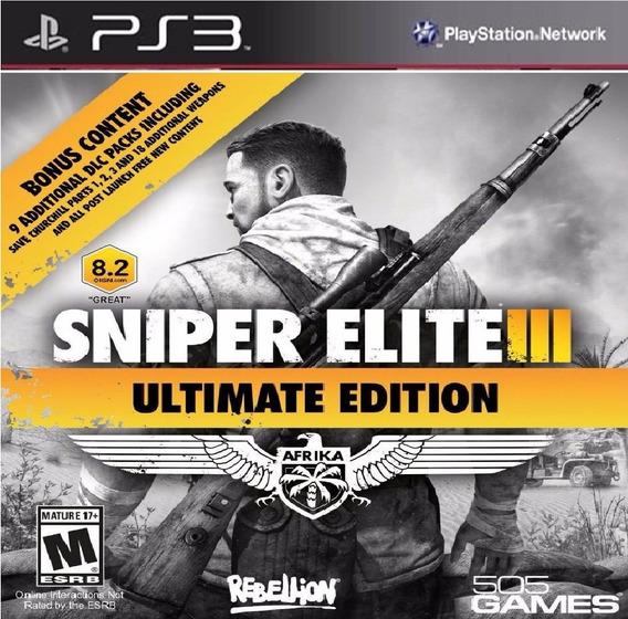 Sniper Elite 3 Ultimate Edition Ps3 Psn Legenas Em Ptbr
