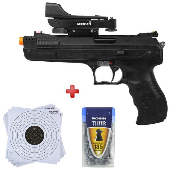 Pistola Pressão Beeman 2006 4.5 Mira Holografica + Kit