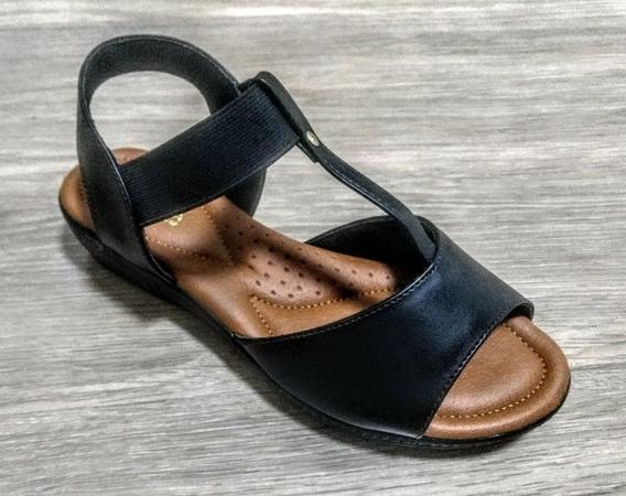 Sapato Ortopedico Feminino Via Scarpa Confort Preto - 11610