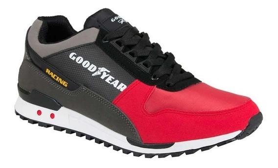 Tenis Casual Goodyear Racing 3794 Rojo 820823