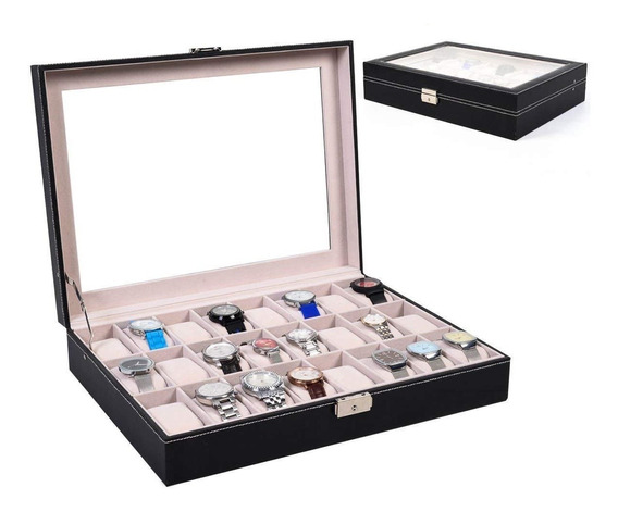 Caja Organizadora 24 Relojes De Lujo / Mundo Online