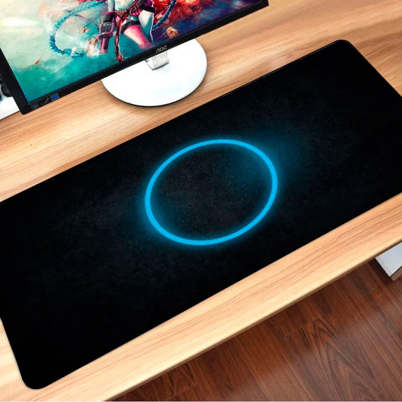 Mouse Pad Gamer 70x35 Large Speed Grande Circulo De Luz (14)