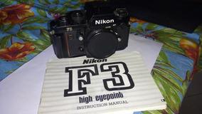 Máquina Fotográfica Analógica Nikon F3 Hp Corpo