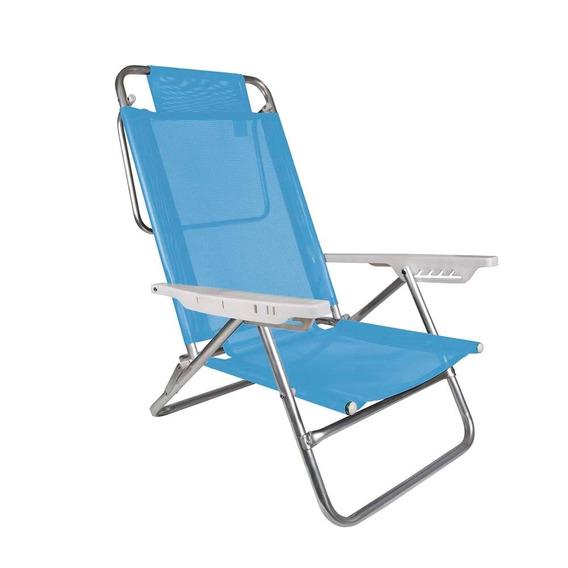 Cadeira Praia Reclinavel Ate 120 Kg Com 6 Posições Em Santos