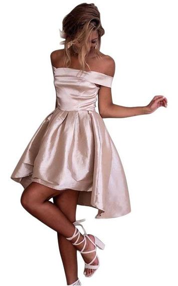 Sexy Elegante Vestido Princesa Satin Sin Hombros 220438