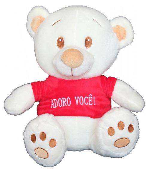 Urso Sorriso Com Coração Dwf Toyfrase Adoro Você Amo Você.