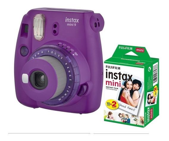 Câmera Instantânea Fuji Instax Mini 9 Rosa Chicl + 20 Filmes