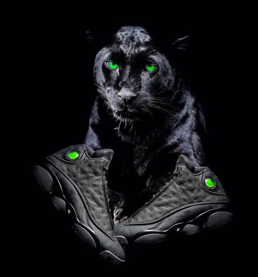 Gvashoes Jordan 13 Num 28 Cm Black Kat , Excelente Calidad