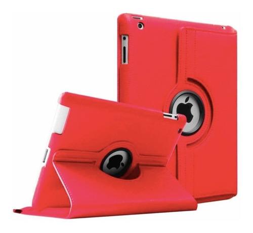 Capa Case Giratória 360° Couro iPad 2 3 4 Vermelha