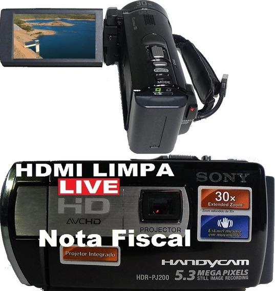 Filmadora Sony Hdr-pj200 Full Hd Hdmi Limpa Live