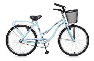 Bicicleta Dama Rodado 26 Gribom Prado Full 3500 Canasto