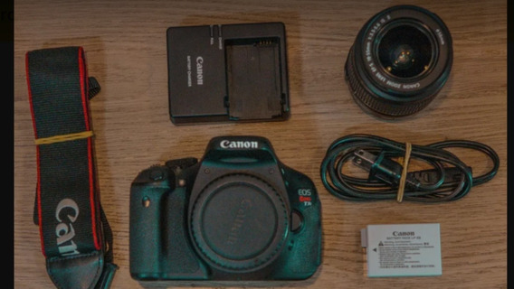 Camera Canon T3i Com Lente 18-55mm . 18mpx Full Hd