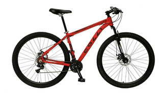 Bicicleta Colli Aro 29 Aero Com Quadro Em Alumínio Suspensão Dianteira Freio A Disco E Kit Shimano Vermelha