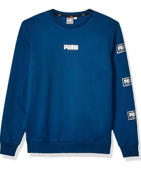 Sudadera Puma Holiday Pack Crew Azul Grande Hombre